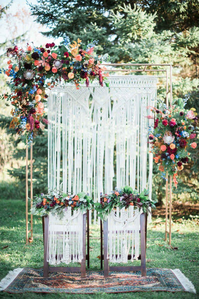 Vibrant Bohemian Wedding Inspo For Fall Fall Wedding Arches
