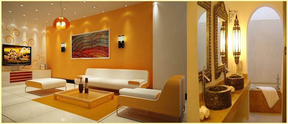 Amarillo ocre dorado en decoracion del hogar for Pintura color ocre