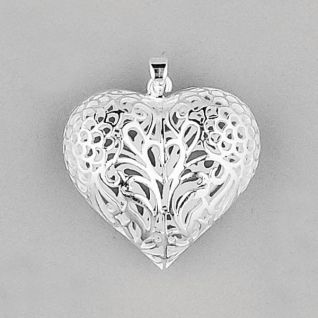 Large silver heart pendant p490 sterling silver large filigree large silver heart pendant p490 sterling silver large filigree puff heart pendant mozeypictures Choice Image