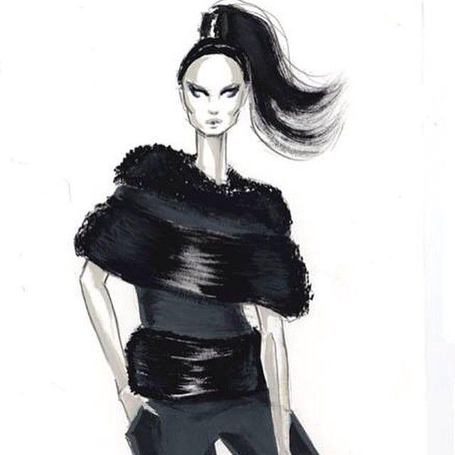 Gouache demo #gouache #fashion #fashionillustration #fashionillustrator #painting #fashionsketching #fashionart