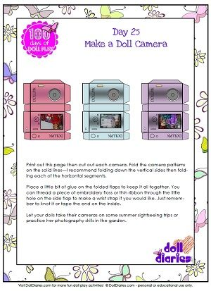 Download The Printable Doll Sized Camera Template As A Pdf
