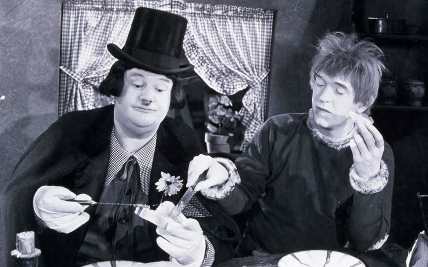 Laurel and Hardy in Bohemian Girl (1936)