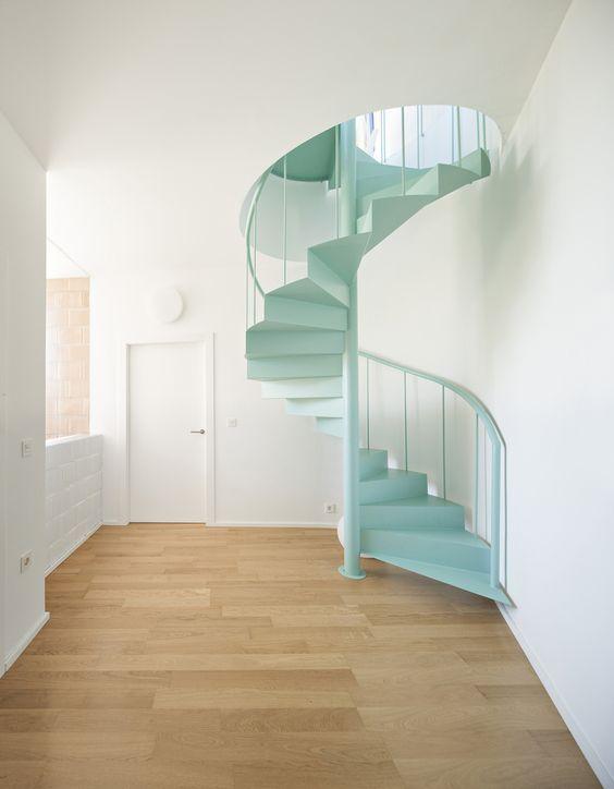20 Diseños de Escaleras de Caracol Decorar y Más Muebles - Diseo De Escaleras Interiores