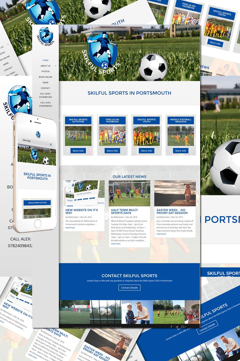 The Skilful Sports Club In Portsmouth Redesign Is Now Complete Http Hostcat Co Uk Project Skilful Sports Club Sports Clubs Portsmouth Web Design