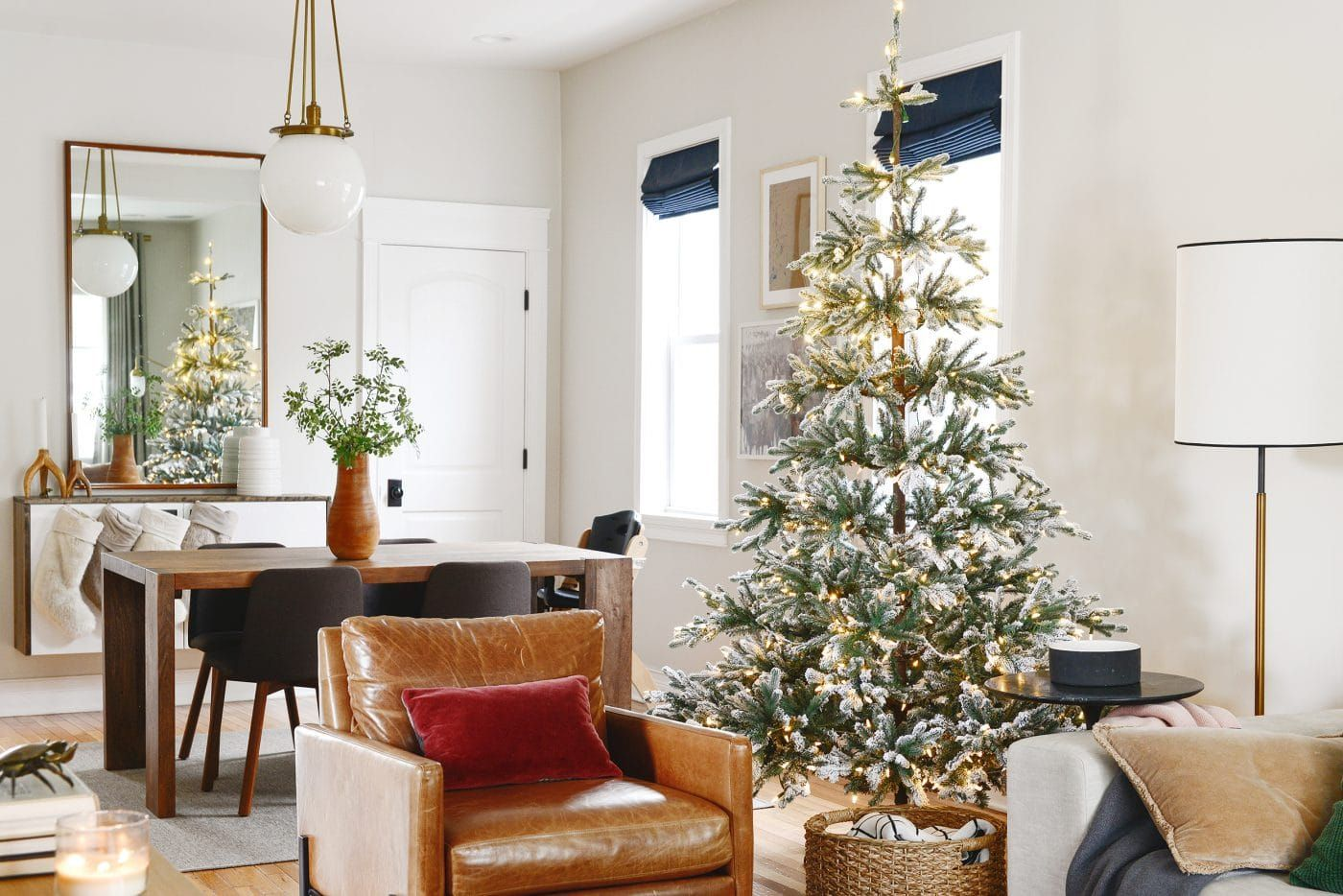 Flocked Trees In Every Shape and Size (With images) | Flocked trees, Flocked christmas trees, Tree