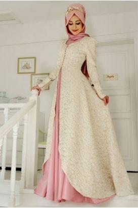 6d82cca566848 Gamze Polat Pudra Orkide Tesettür Abiye Elbise | giyim | Elbise ...