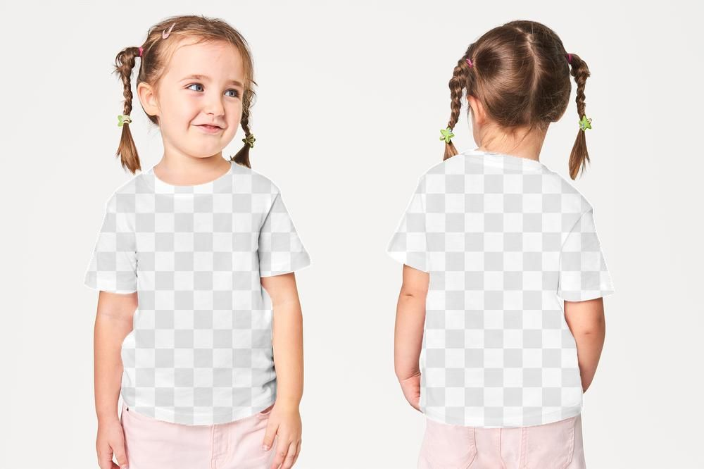 Download Girl S Casual T Shirt Png Mockup Front And Back Free Image By Rawpixel Com Petch Clothing Mockup T Shirt Png Casual Girl