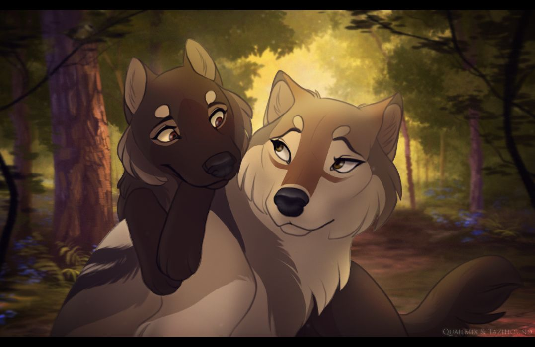 Sisterly love ever since midnight and luna found evidence - Anime wolves in love ...