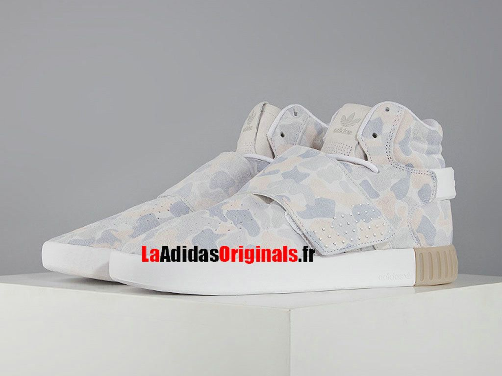 Adidas Tubular Invader Strap - Chaussure Adidas Originals Pas Cher Pour Homme/Femme Camouflage/Blanc BB8394-Boutique Adidas Originals de Running (FR) - LaAdidasOriginals.fr