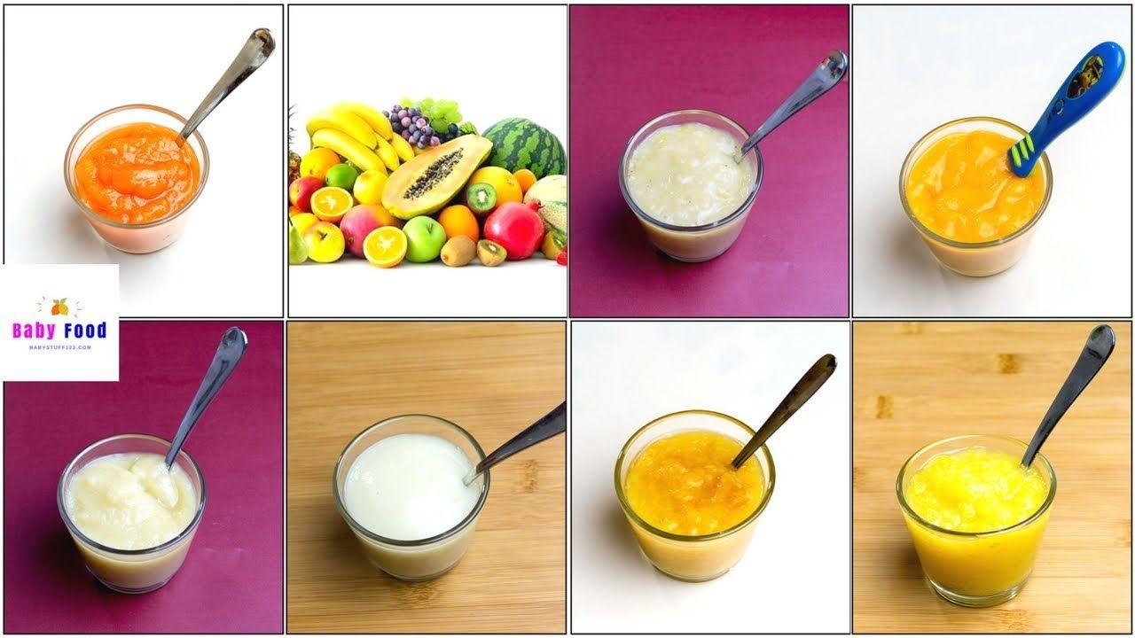 7 fruit puree for 4 6 months baby how to make fruit