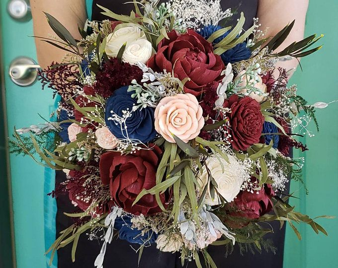 Burgundy and navy blue bouquet Bridal bouquet Brooch bouquet Wedding bouquet Broach Bouquet Fabric bouquet Jewelry bouquet Crystal bouquet #flowerbouquetwedding