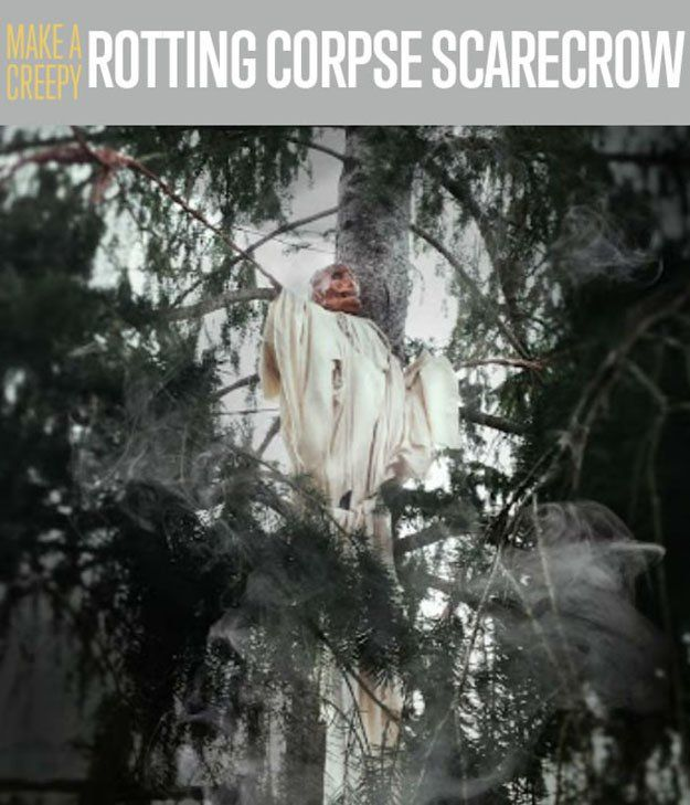 how to make a halloween scarecrow decorations outdoor halloween