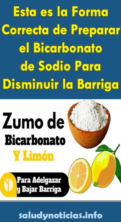 Esta Es La Forma Correcta De Preparar El Bicarbonato De Sodio Para Disminuir La Barriga Salud Noticias Bicarbonato De Sodio Bajar De Peso Limon Para Adelgazar Bicarbonato De Sodio