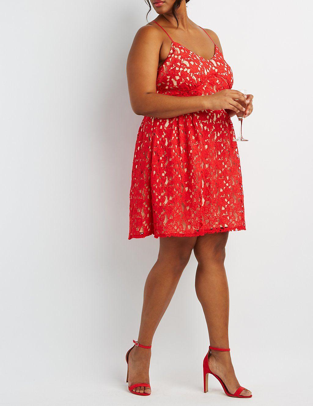 Plus Size Floral Crochet Lace Dress Charlotterusseplus Charlotte