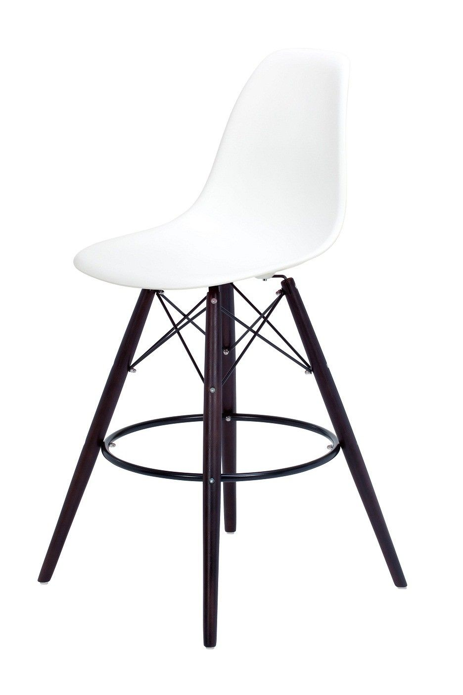 Replica Charles Eames Style Bar Stool With Dark Legs This