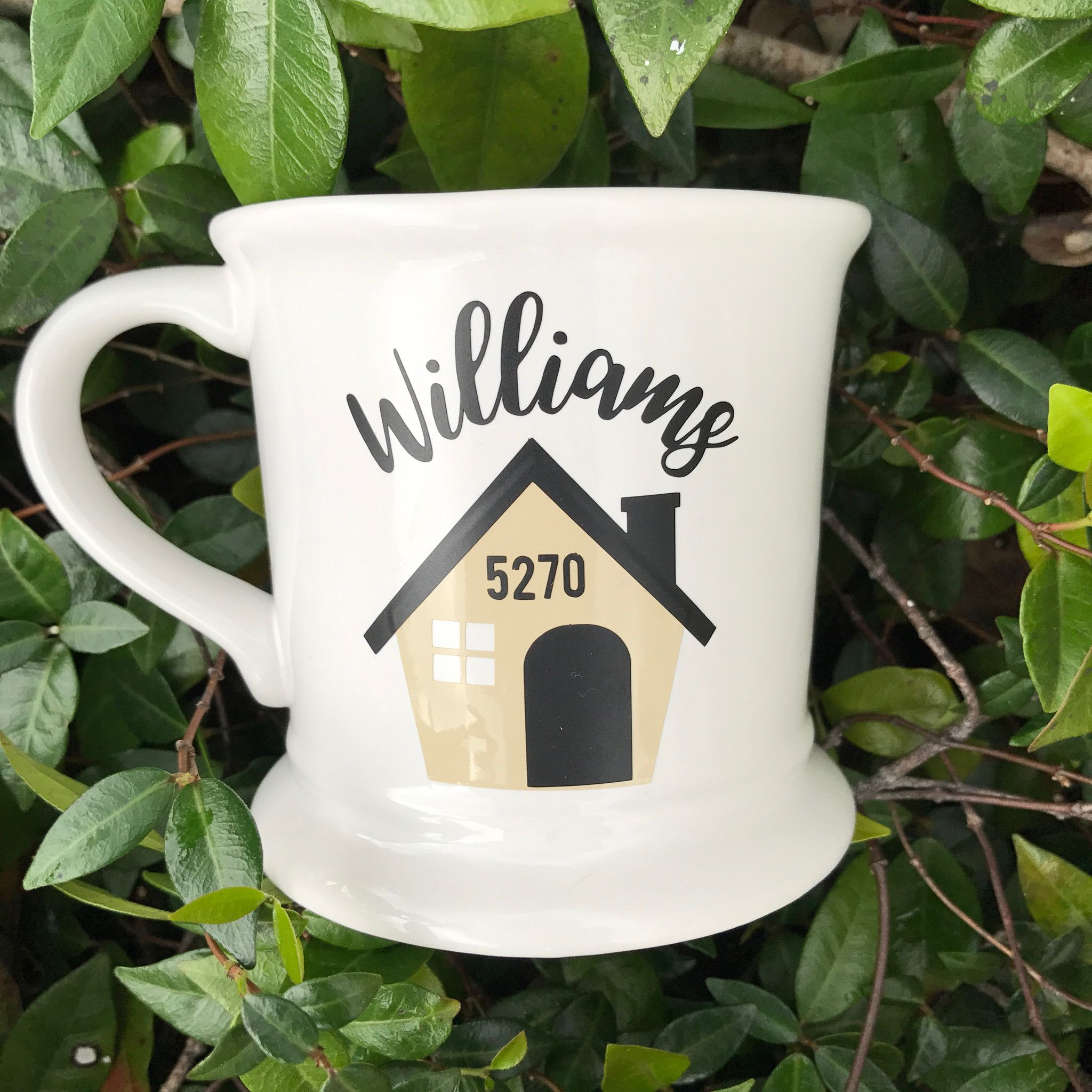 Personalized Coffee Cup, Home Sweet Home