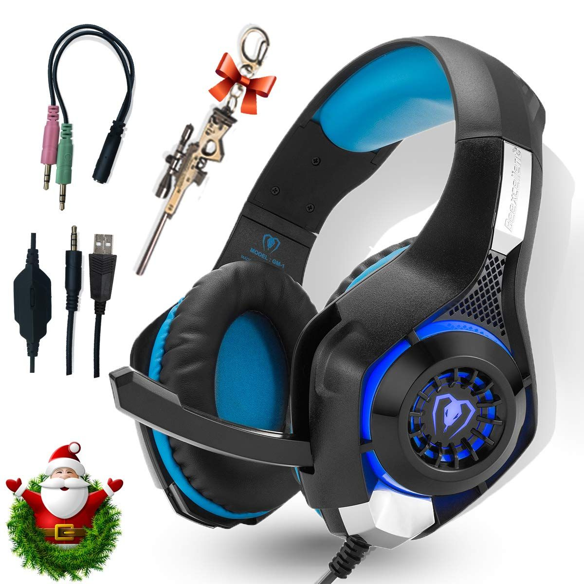 Professional Headset Gaming with Noise Cancelling Mic Used in PC