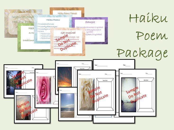 Haiku Poetry Inspirational Package Haiku poetry, Poetry