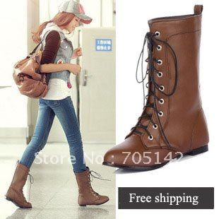 Free shipping! Fashion woman/women/lady short riding boots ...