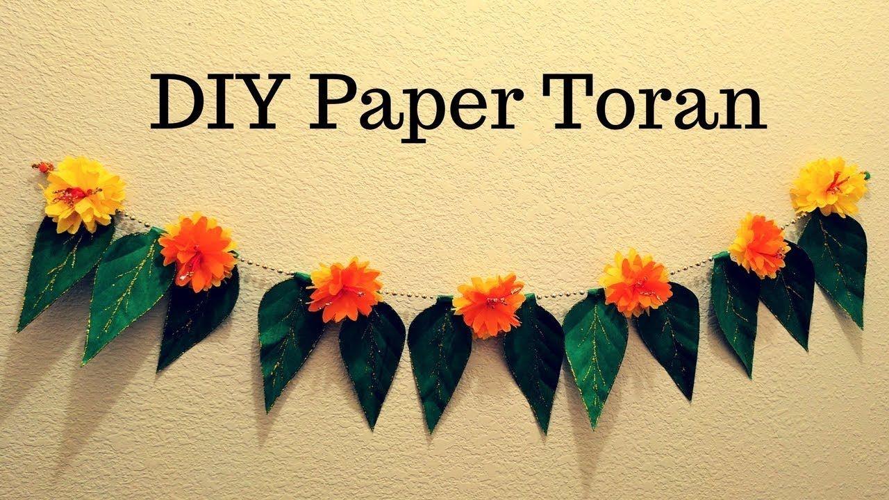 Diwali Special Diy Paper Toran Tissue Paper Flower Toran Garland