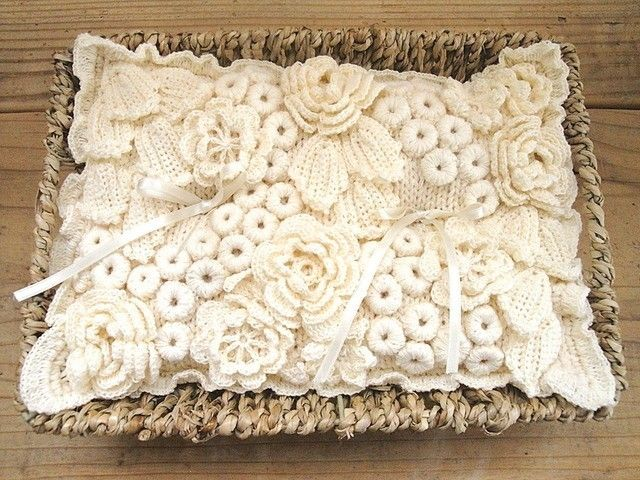 Irish crochet ring pillow | Crochet | Pinterest | Tutoriales, Molde ...