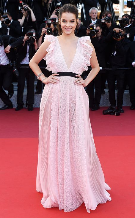 Every major fashion moment on the cannes red carpet pink lace dresses barbara palvin and cannes - Barbara palvin red carpet ...