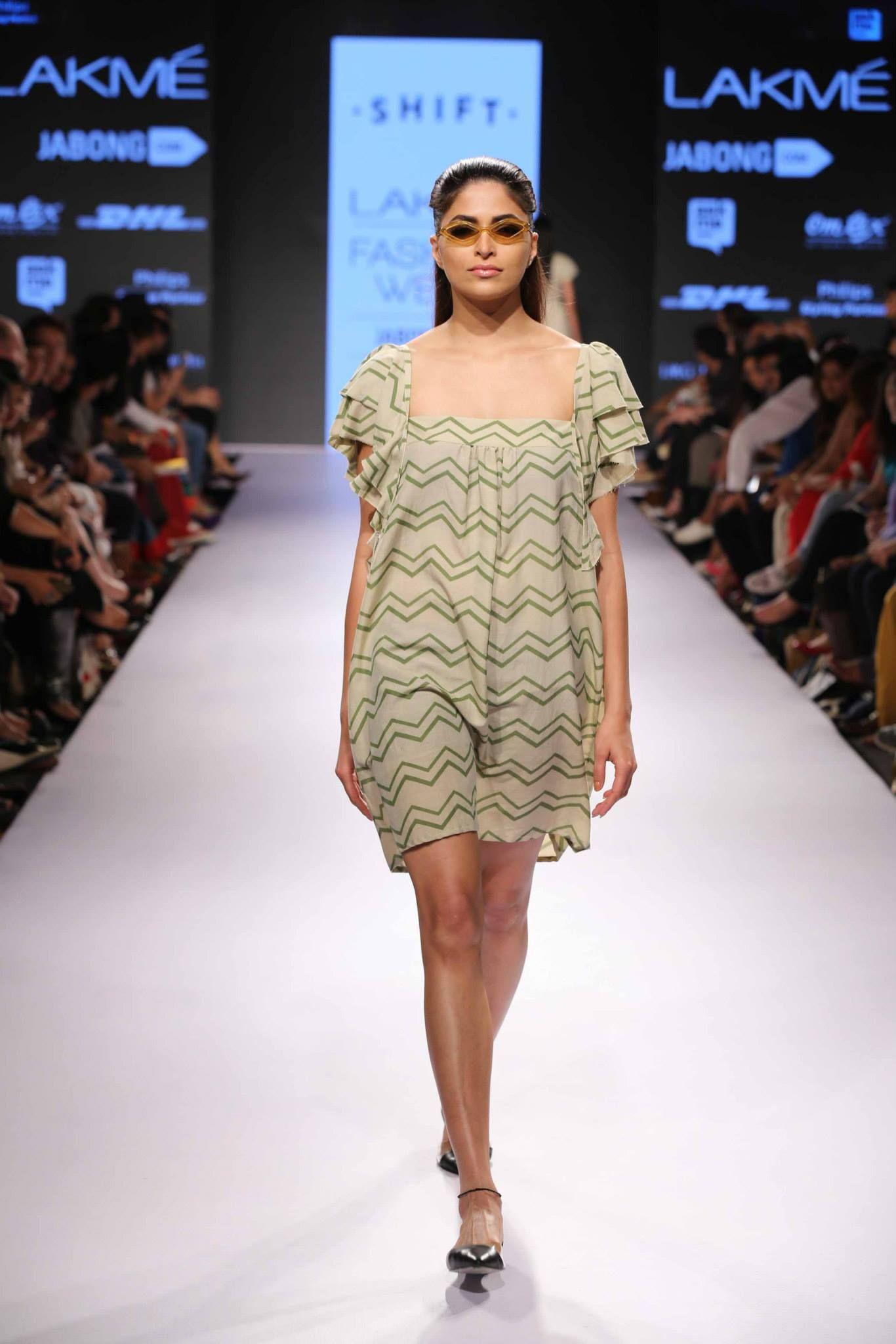 Lakme Fashion Week Summer/Resort 2015- Day3- Show3- Shift #shift #lakmefashionweek #2015 #summerresort #day3 #show3 #shortdress #beachwear #stripes #green #lovely #indianfashion