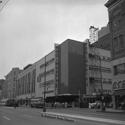 Woolworths Under Construction In 1954 In Richmond Va At 5th U0026 Broad Streets.