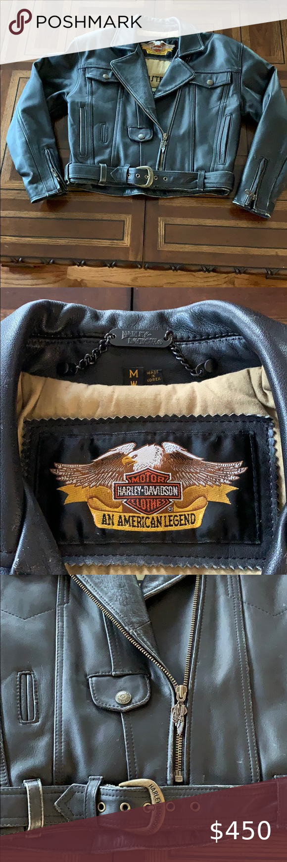 Authentic Genuine Leather Harley Davidson Jacket in 2020