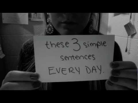 I found this girl's suicide awareness video on here. If you guys could take 3 minutes to just watch it, and do the three things she asks you at the end I would greatly appreciate it. Thank you.