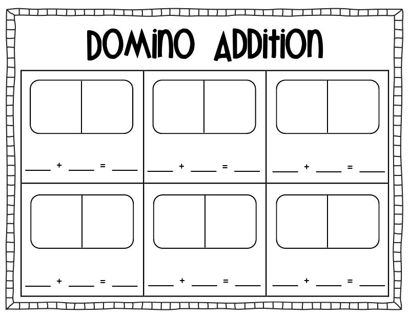 Domino addition worksheet pdf