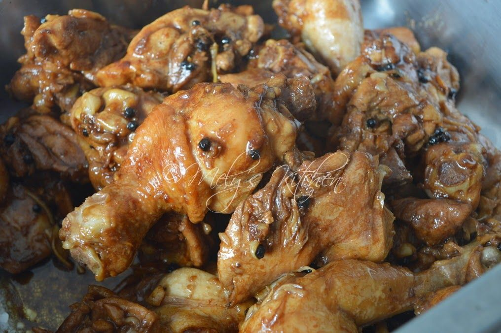 If you want a little sweet taste in your adobo you must try this recipe    Ingredients:  1/2 kilo chicken  1/2 cup soy sauce  1/2 cu...