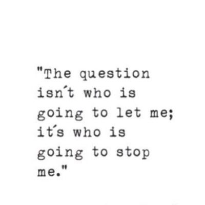 The question is..