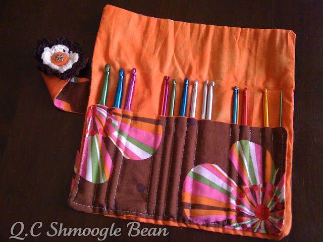 Cute Crochet Hook Roll Tutorial Crochet Pinterest Crochet