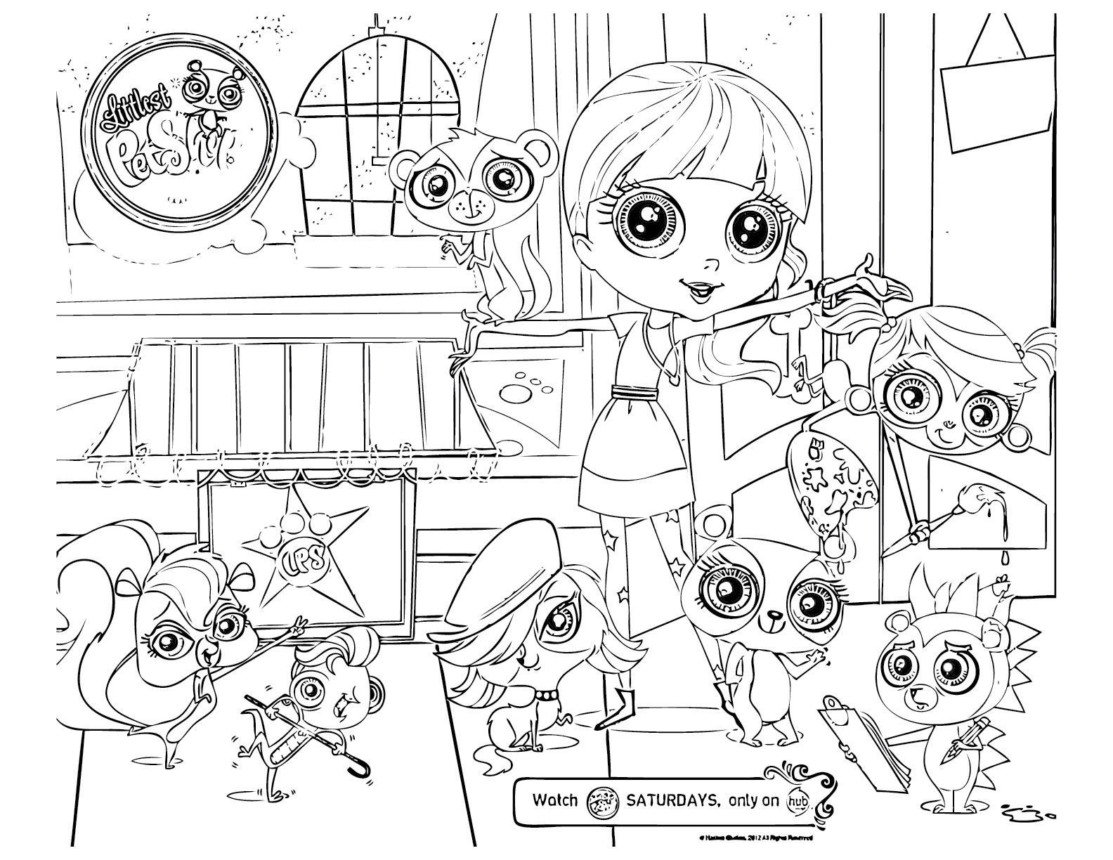 Free coloring pages pets