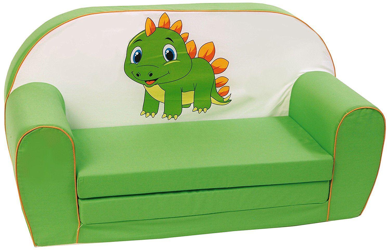 kinder schlafsofa drache gr n kindersofa mit drachen. Black Bedroom Furniture Sets. Home Design Ideas