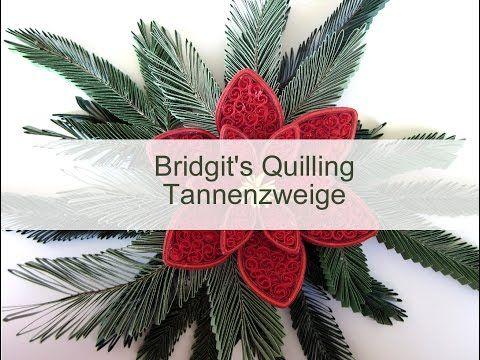 Bridgit's Quilling Tannenzweige (mit NEUE Quilling Zick-Zack-Technik - Video 2) - YouTube