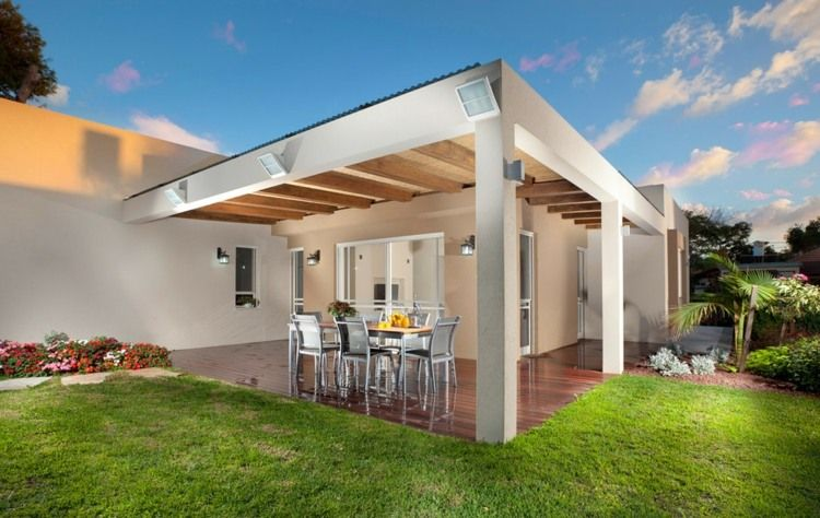 Terrasse couverte - 30 idées sur l\u0027auvent en bois et la pergola