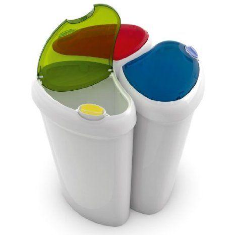 Abfalleimer - Praktisches 3er Set mit je 25 Liter mit farbigen