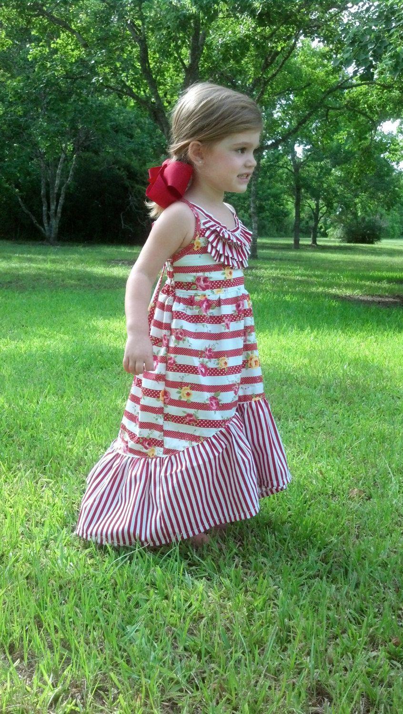 PDF Pattern, Girls Sewing Pattern, The Sophia Maxi Dress | Kurze ...