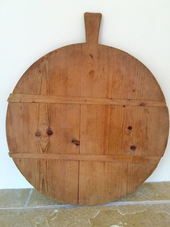 large vintage french round cutting board the hoarde breadboards