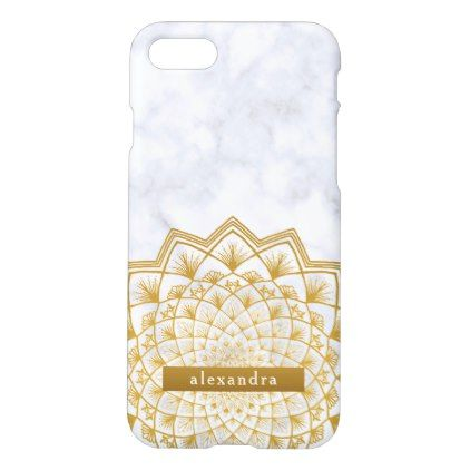 Trendy Marble And Gold Mandala Lace Pattern IPhone 8 7 Case