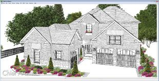 Line Drawing 3d View Chief Architect Home Design Software