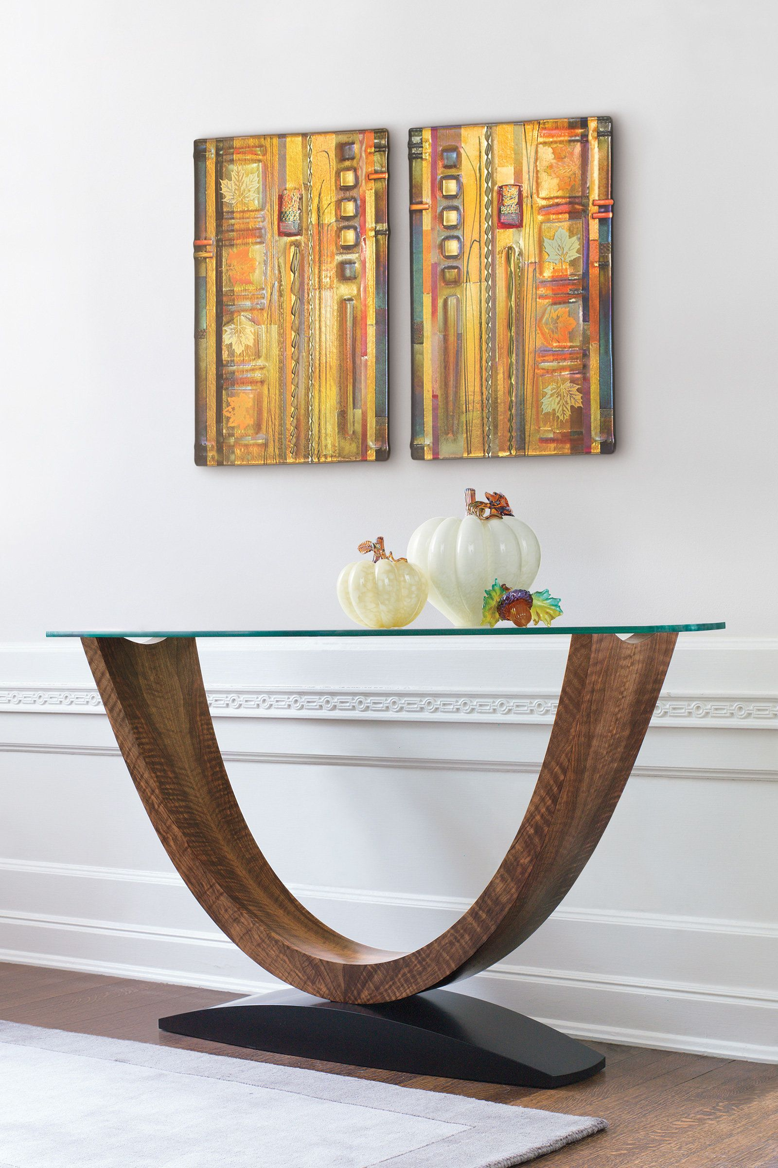 Crescent Console Table By Enrico Konig Wood Console Table