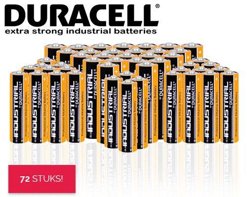 Dagaanbieding 72 Duracell Industrial Batterijen Aa Of Aaa Batterijen