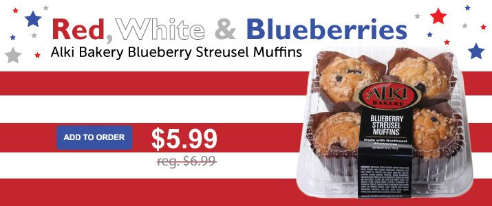 Celebrate the 4th of July with us! Add these delicious muffins to your next order | Smith Brothers Farm
