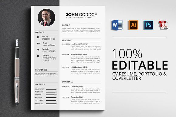 Cv Resume Resume Design Template Resume Templates Templates