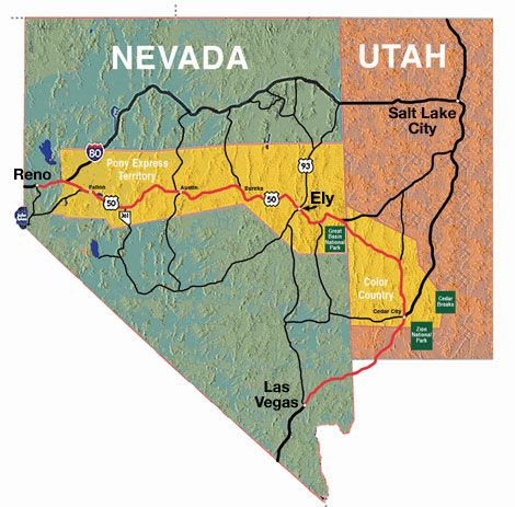 ely nevada | Ely is part of the Pony Express Territory and is less on map of east las vegas nevada, map of pahrump nevada, map of reno nevada, map of laughlin nevada, map of lund nevada, map of washoe valley nevada, map of winnemucca nevada, map of stateline nevada, map of moapa nevada, map of winchester nevada, map of washoe county nevada, map of round mountain nevada, map of white pine county nevada, map of crescent valley nevada, map of elko nevada, map of henderson nevada, detailed map nevada, map of mt charleston nevada, map of minden nevada, map of tonopah nevada,