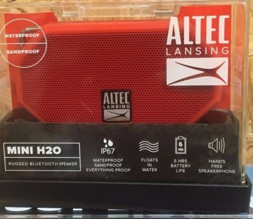 Altec Lansing Mini H20 Rugged Bluetooth Speaker Ip67 Waterproof
