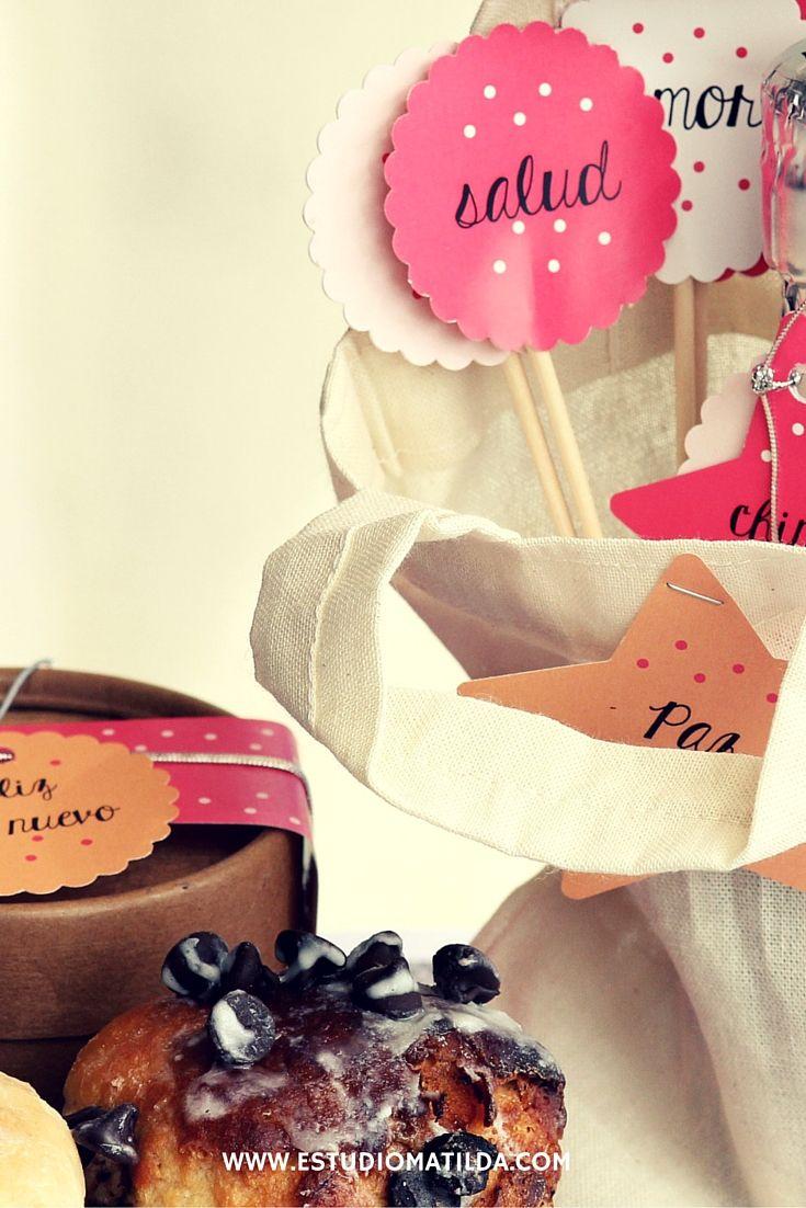 Kit Brindis Incluye Pan Dulce Caja Decorada Mini Champagne  # Champagne Muebles Uy
